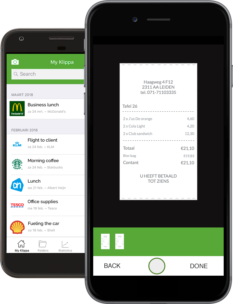 Receipt Scanner Digital Receipts App Klippa - Invoice scanning app