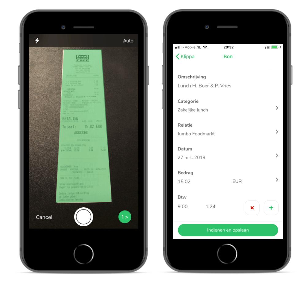 Gebruiksvriendelijke declaratie app