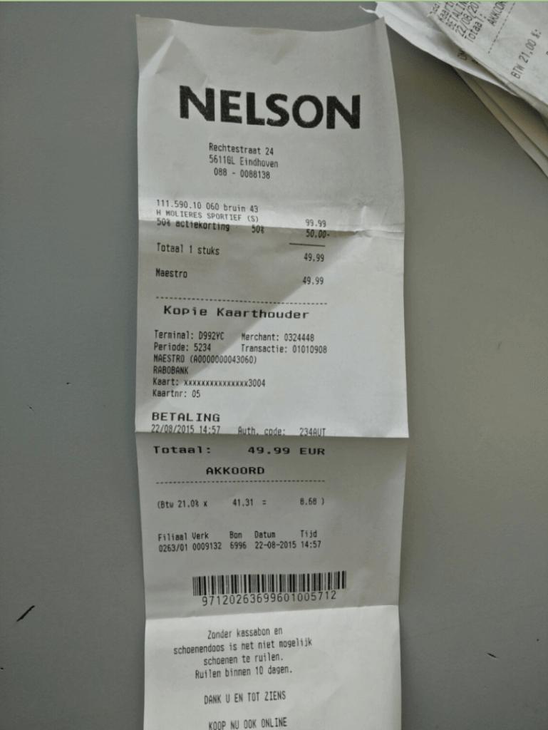 Demo receipt
