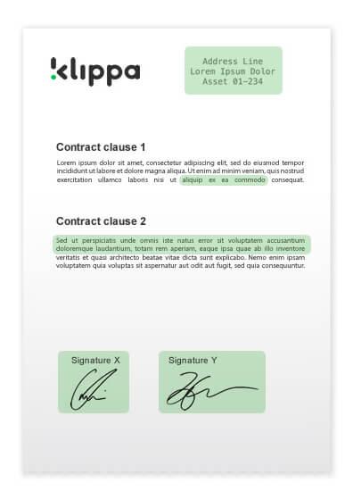 Contract handtekeningen uitlezen