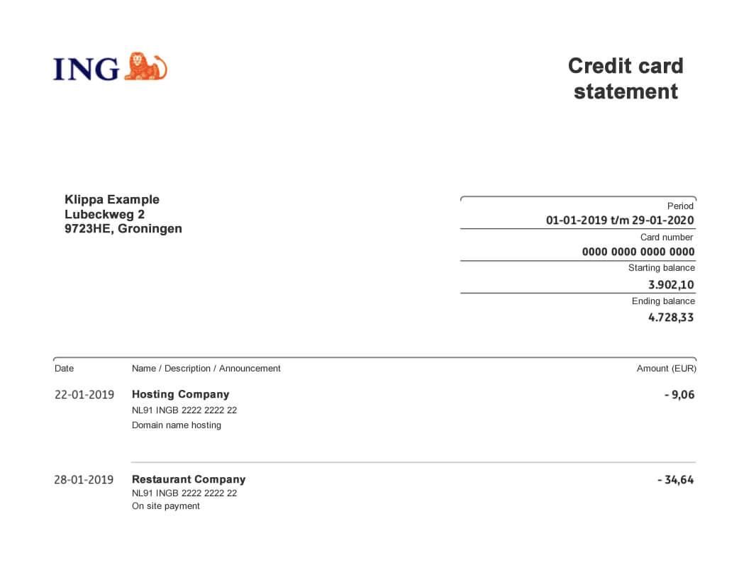 Kreditkartenabrechnungen