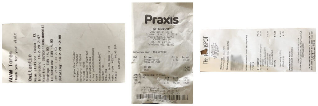 Automated receipt cropping