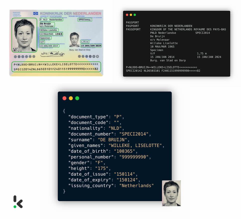 Passport parsing API