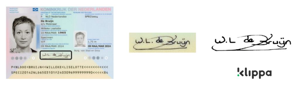 Software voor handtekeningen uitlezen